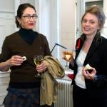 Kristina Herman och Hedwig Weibull, radiojournalist, var den första som intervjuade översättaren, minuterna efter att priset tillkännagivits.