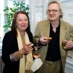 Else-Britt Kjellqvist, poet och psykoanalytiker och Oliver Parland, psykoanalytiker och essäist.