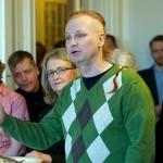 Kerstin Ekberg, LO-Tidningens styrelse, Gun Jacobsson, frilans och Kent Renen Johansson från Byggettan.
