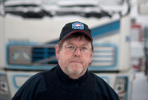 Freddy Welle, chaufför och vice ordförande i Transports åkerisektion i Göteborg.