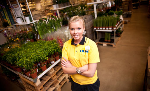 Camilla Borslehag trivs på Ikea.