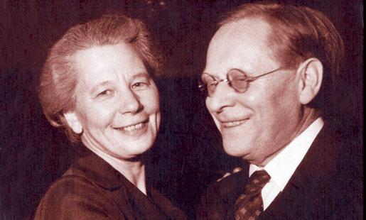 Karin Kock och Hugo lindberg, omslags- bild till boken Par i vetenskap och politik (red: Annika Berg, Christina Florin och Per Wisselgren)