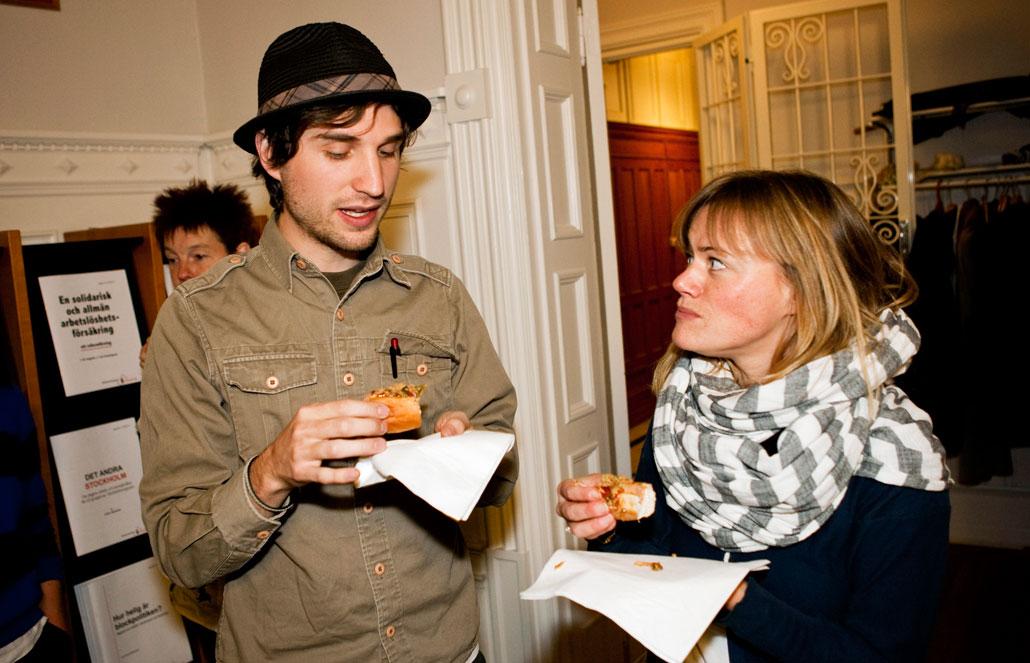 Robin Linderborg, LO-Tidningen, diskuterade med Sara Wållin från Sveriges Radio.