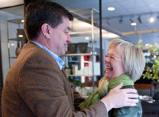 Guy Ryder träffar Wanja Lundby-Wedin i Stockholm 2009.