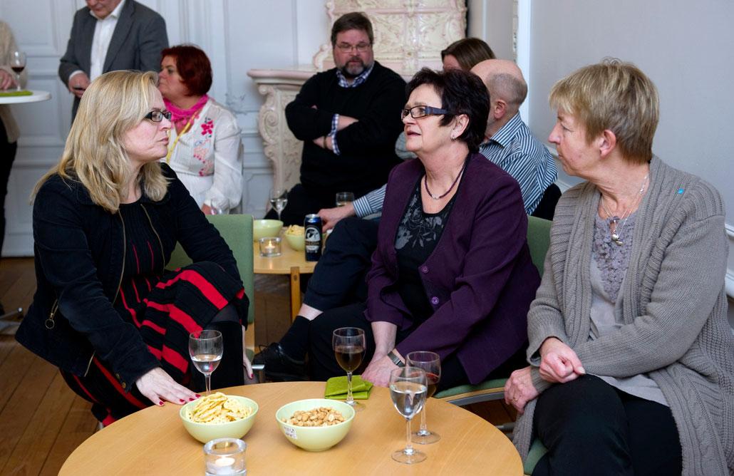ST:s Britta Lejon, Ing-Marie Nilsson och Annette Carnhede ville ha besked av socialförsäkringsministern – både om bedömningen av sjuka och konsekvenserna för tjänstemannafackets medlemmar på Försäkringskassan och Arbetsförmedlingen.