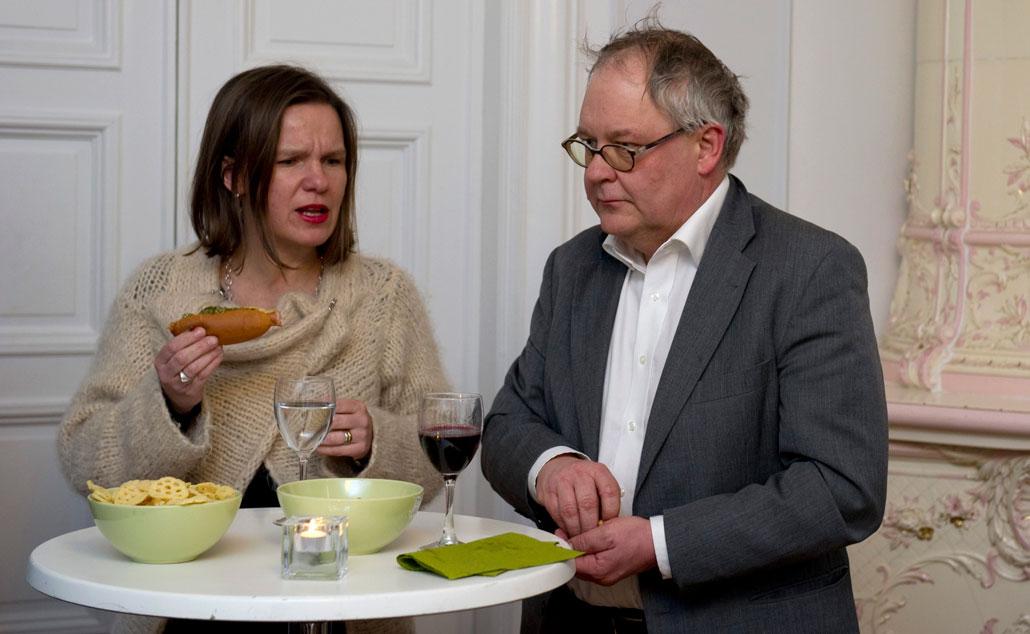 Kristina Mårtensson, LO, och Anders Jonsson, Saco.