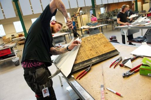 Mattias Almén är nästan klar för yrkesprovet efter fyra år som lärling på två olika firmor i Avesta.