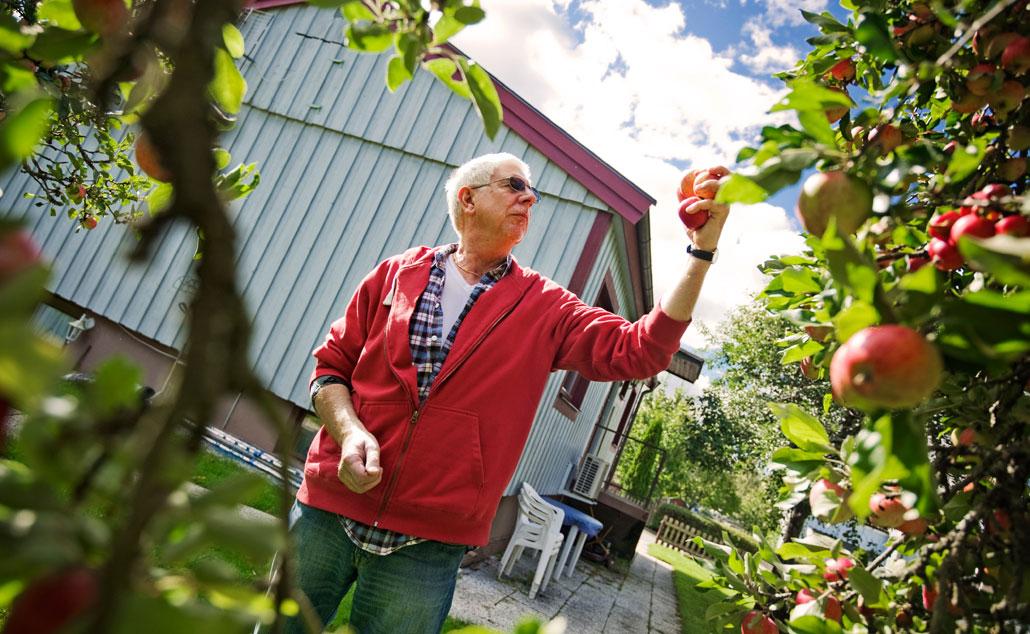 – Kanske kan jag inte ha kvar huset. Ogräs ska rensas, äppelträd ska beskäras, saker ska lagas och jag kan inte anlita hjälp till allt. Jag är i valet och kvalet, säger Lars-Åke Eriksson.