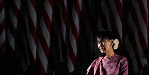 Burmas mest kända demokratikämpe Aung San Suu Kyi.