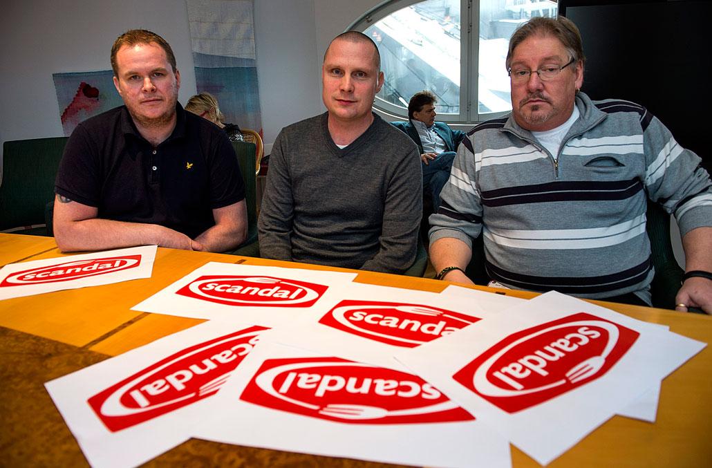 Klubbordförandena Mattias Axelsson, Linköping, och Patric Nelson, Kristianstad samt ombudsman Bengt-Göran Koffed, har tvingats gå med på uppsägningar samtidigt som inhyrda stannar kvar.