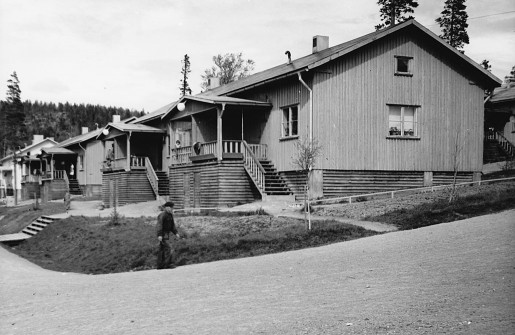 Arbetarbostäderna i Laver på 1930-talet.