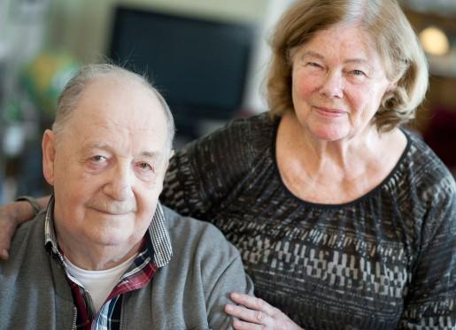 Maja Öberg minns att standarden på gruvarbetarbostäderna var lyxig med tidens mått. I dag bor hon med sin man Ola i Älvsbyn.
