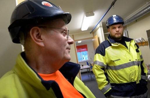Stefan Slottensjö och Mattias Jansson, lagbasar Skanska.
