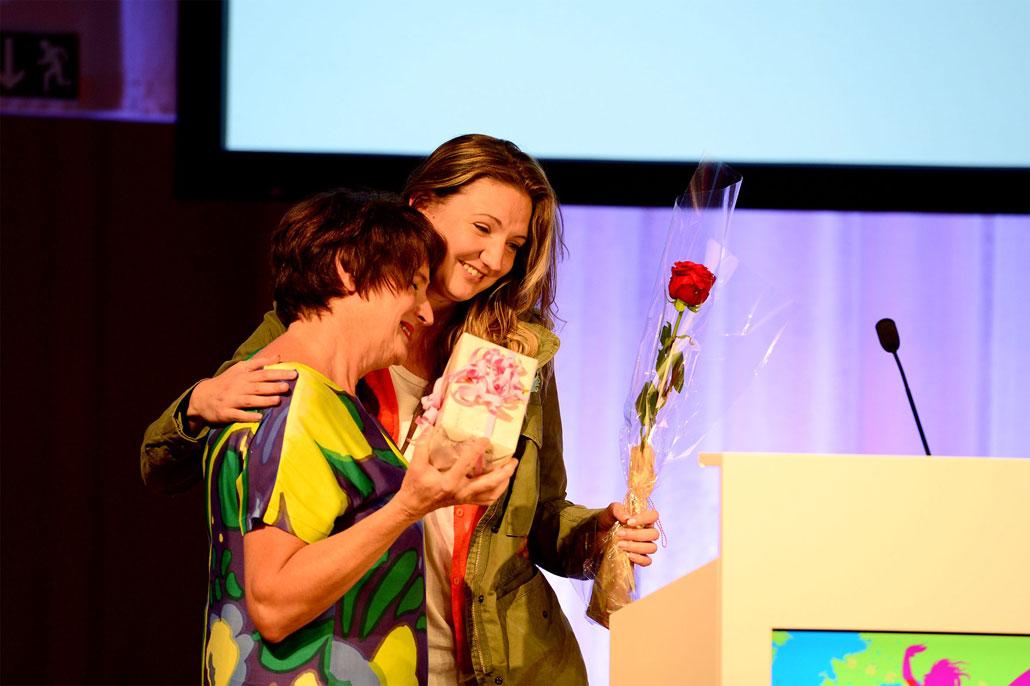 Gabriella Pichler fick Kommunals kulturpris för sin film Äta sova dö.