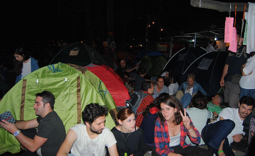 Ockupanter i Geziparken.