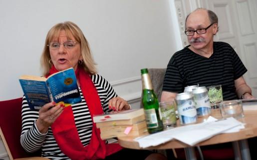 """Aino Trosell och Bengt Eriksson vid seminariet """"Brottsplats verkligheten"""" på LO-Tidningen 2011. Foto: Bertil Ericson"""