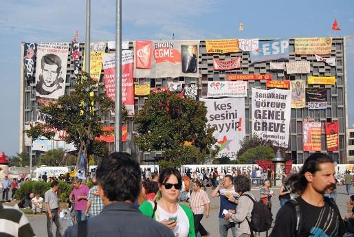 Taksimtorget på måndagen.