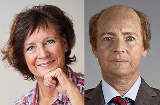 """Annelie Nordström före och efter """"könsbytet""""."""