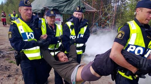 Jokkmokk protest mot gruvbrytning.