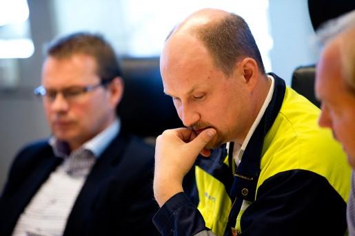 Anders Fröberg VD Borealis och Patrik Andersson från IF Metall varnar för att jobb inom kemiindustrin hotas.