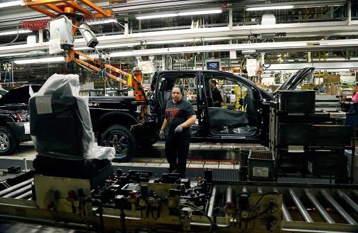 Interiör från Nissans fabrik i Canton. Majoriteten har enligt bilarbetarfacket UAW röstat för facklig anslutning.