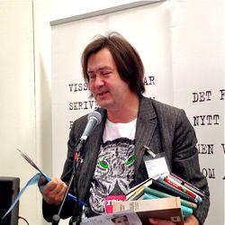 Kulturredaktörn vid prisutdelningen på söndagen.