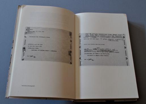 """Hyllningstelegram ur boken Strejkkonsten, från """"Arbetarna på Moderna museet"""" och från en fransk fackförening."""