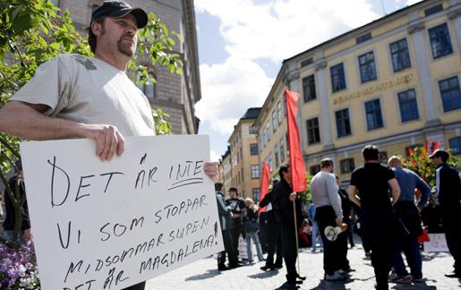 Bakgrund: Inhyrningen på Lagena som orsakade en vild strejk 2009. Foto: Henrik Montgomery