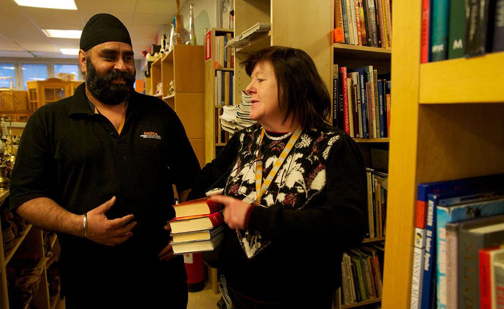 Pappu Singh är kollega med Annika Sjöberg i sysselsättningsfasen på Andra varvet.