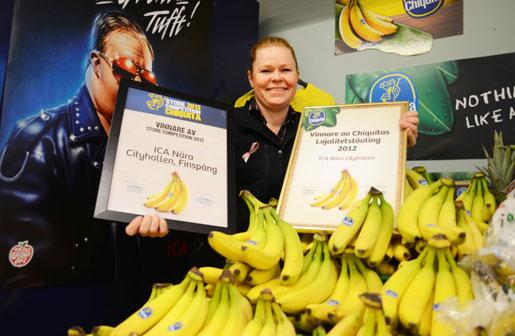 Helen Melvinger gjorde bästa bananskyltningen. Foto: Mikael Grip