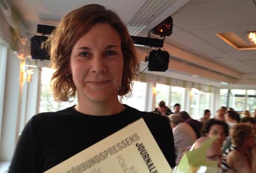 Arbetets Sandra Lund vann priset för bästa förklarande text på Fackförbundspressens dag. Foto: Erik Larsson