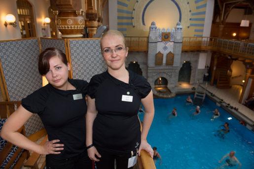 Egija Rozenfelde och Sofia Westin har just förhandlat fram en handlingsplan mot sextrakasserier.Foto: Jonas Ekströmer