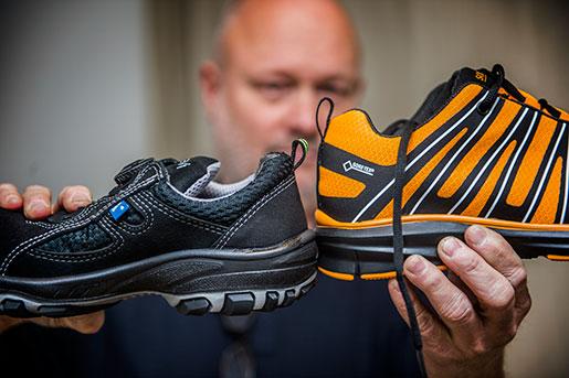 Höjden på hälkappan kan vara hela skillnaden mellan en bra och en dålig sko. Foto: Per Larsson