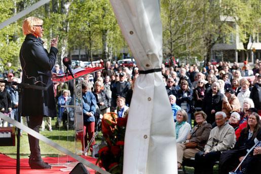 ... där värmlänningen Margot Wallström talade. Foto: Linn Malmén