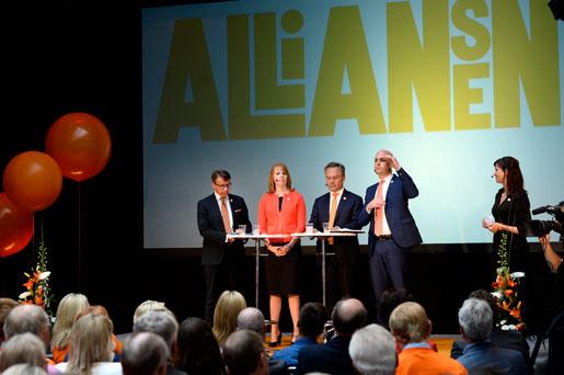 Valupptakt utan arbetarstöd. Endast 13 procent av LO-medlemmarna skulle rösta på något av Allianspartierna om det var val i dag. Foto: Pontus Lundahl