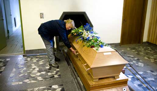 Maria Lindell är krematorievaktmästare. Foto: Anna hållams