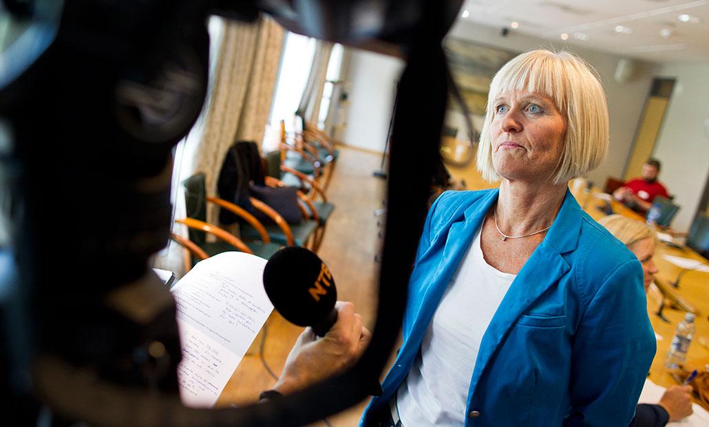 Ragnhild Lied på norska lärarfacket Utdanningsforbundet. Foto: Vegard Grøtt