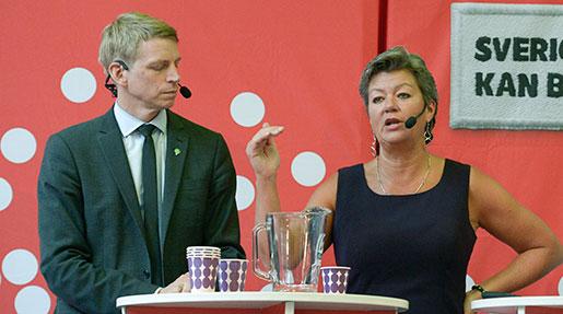 Per Bolund och Ylva Johansson. Foto: Janerik Henriksson