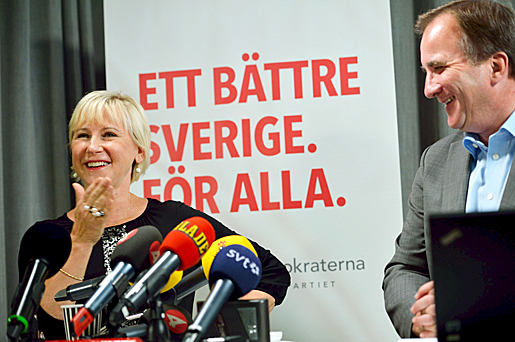 Margot Wallström och Stefan Löfven. Foto: Henrik Montgomery