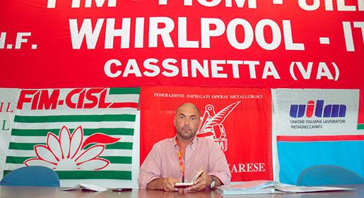 Det har varit tuffa år för Matteo Berardi som fackordförande på Whirlpools fabriker i Cassinetta. 1 500 anställda har fått gå. Foto: Kristina Wallin
