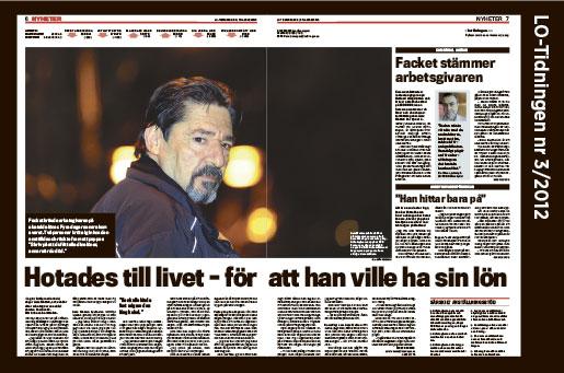 LO-Tidningen skrev om Aziz Mettou 2012.