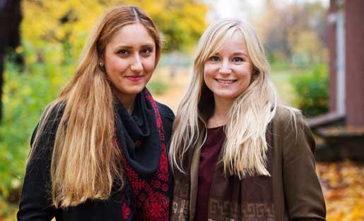 Street law academys Rahima Ortac och Karin Henriksson.Foto: Fanni Olin Dahl