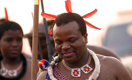 Swazilands kung Mswati III. Foto: Siphiwe Sibeko