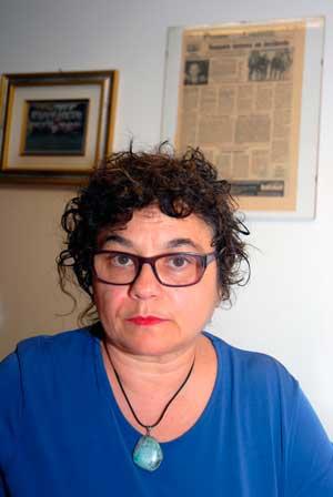 Valeria Toffolutti vill att hennes styvsons död ska få andra att inse vikten av säkerhet på arbetsplatserna. Foto: Kristina Wallin