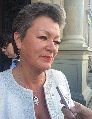 Ylva Johansson. Foto: Göran Jacobsson
