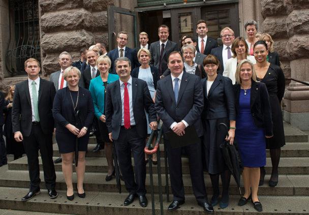 Stefan Löfvens regering. Foto: Jonas Ekströmer