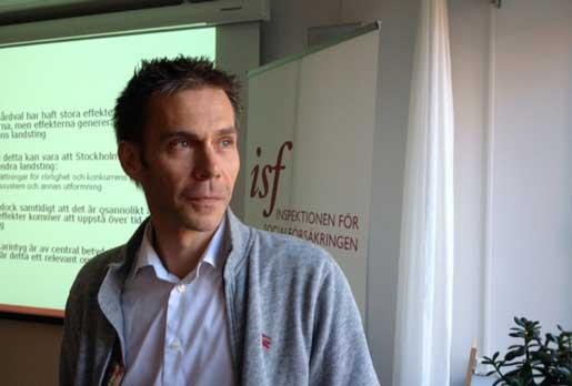 Det fria vårdvalet har lett till fler sjukskrivningar, konstaterar Kristian Persson Kern, ISF.