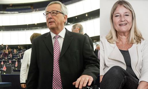 EU-kommissionens ordförande Jean-Claude Juncker presenterade i dag sin investeringsplan för EU, men sysselsättningsutskottets ordförande Marita Ulvskog var inte nöjd. Foto: Christian Lutz, Magnus Hjalmarson Neideman
