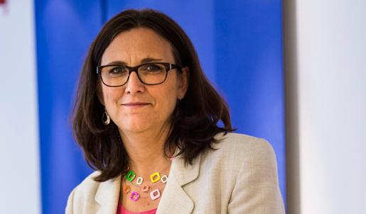 Cecilia Malmström, EU-kommissionär hoppas att TTIP är klart nästa år. Foto: Per Larsson