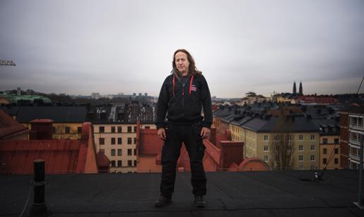 Billy Sjövall är mättekniker. Foto: Fanny Olin Dahl